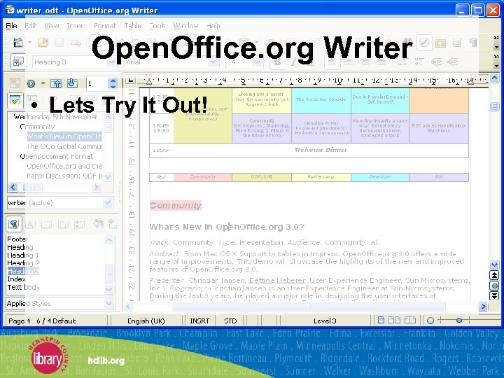 Open. Office. org Writer • Lets Try It Out!