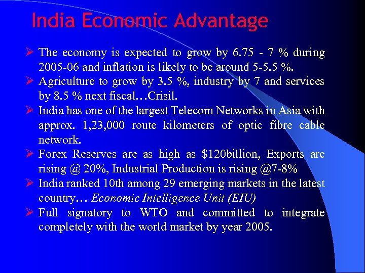 strengths of indian economy the Indian economy started to gain some real momentum a few years ago when the top international companies started to move their manufacturing facilities to india and not just that, they also started to outsource all sorts of jobs to india whether they were related to marketing, management or customer service.