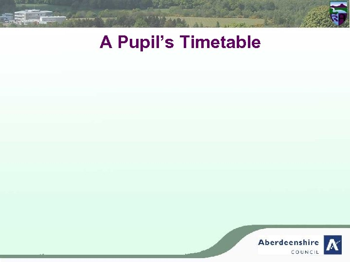 A Pupil's Timetable