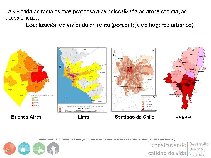 La vivienda en renta es mas propensa a estar localizada en áreas con mayor