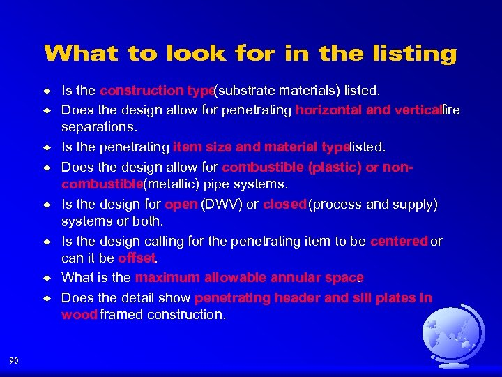 What to look for in the listing F F F F 90 Is the