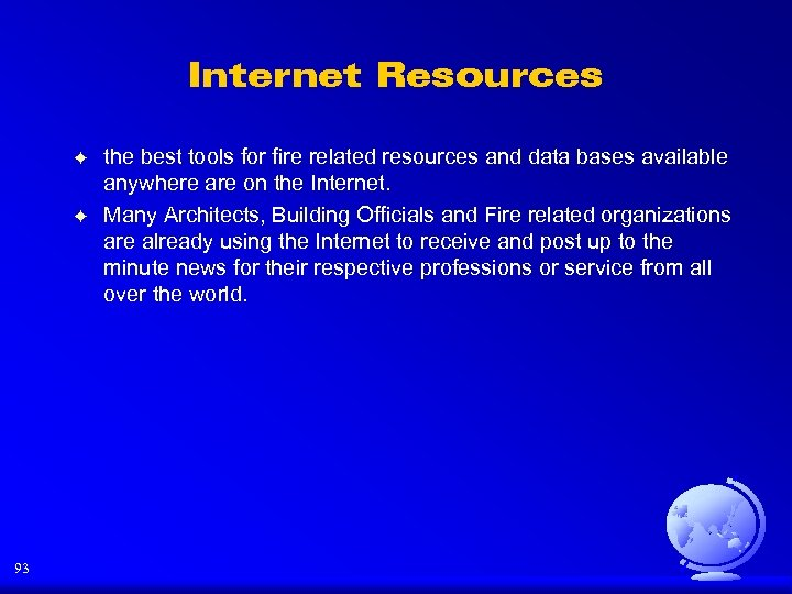 Internet Resources F F 93 the best tools for fire related resources and data