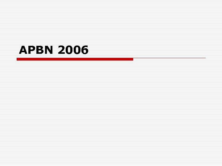 APBN 2006