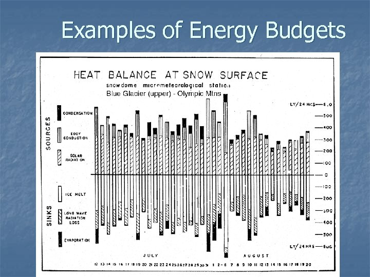 Examples of Energy Budgets