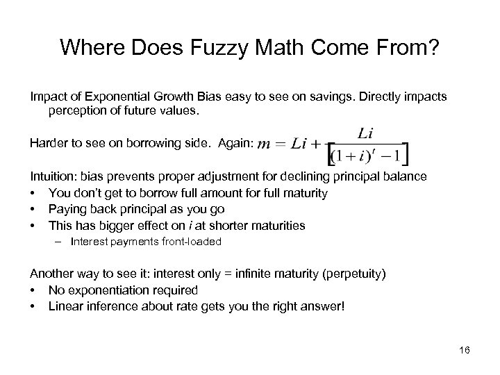 Where Does Fuzzy Math Come From? Impact of Exponential Growth Bias easy to see