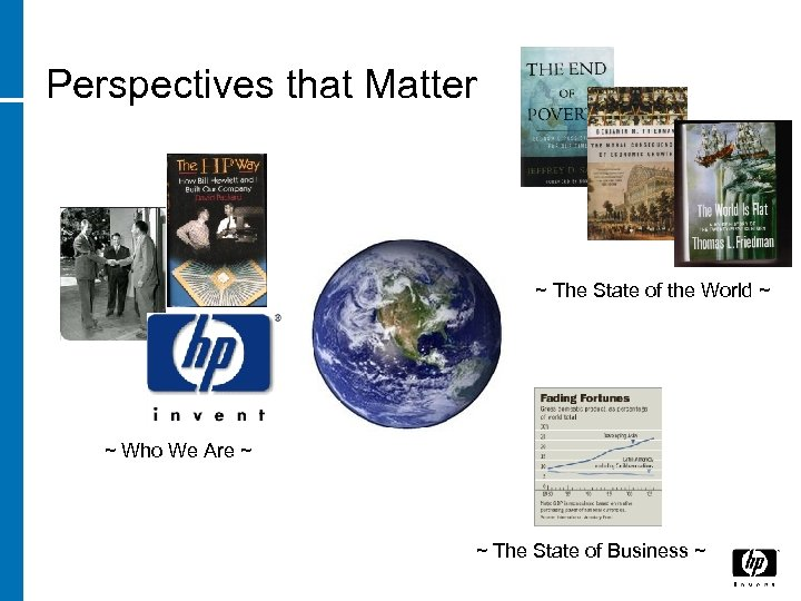 Perspectives that Matter ~ The State of the World ~ ~ Who We Are