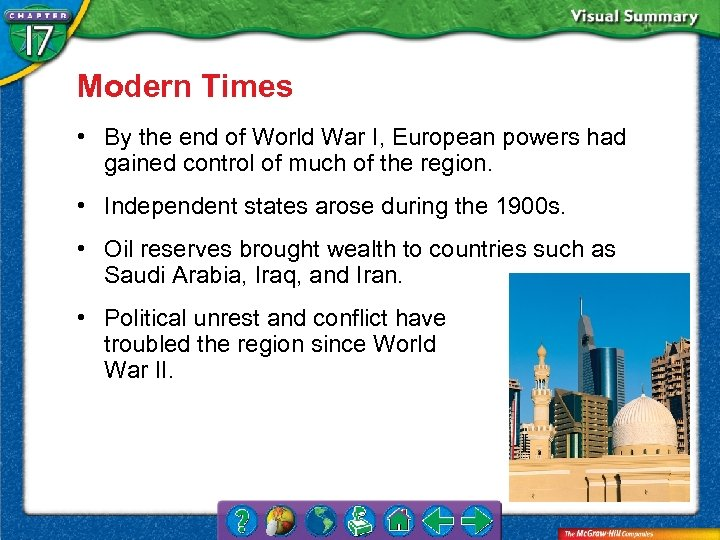 Modern Times • By the end of World War I, European powers had gained