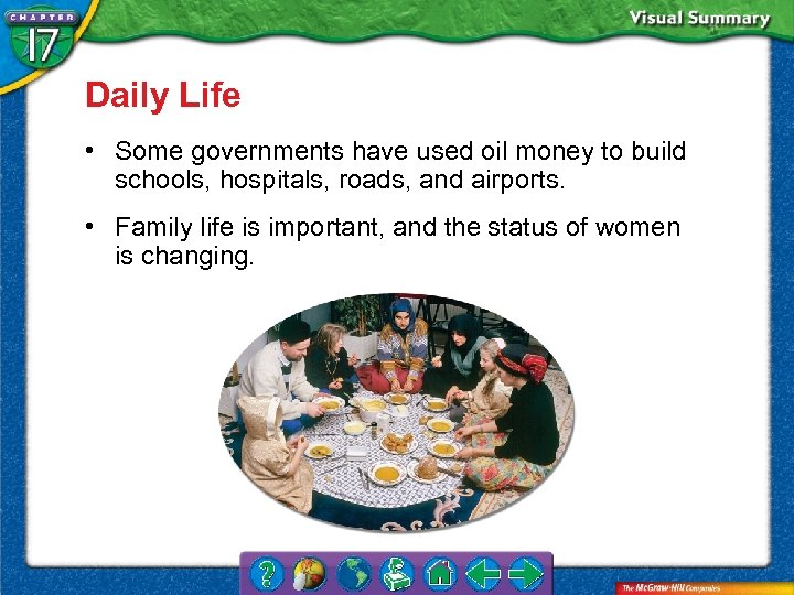 Daily Life • Some governments have used oil money to build schools, hospitals, roads,