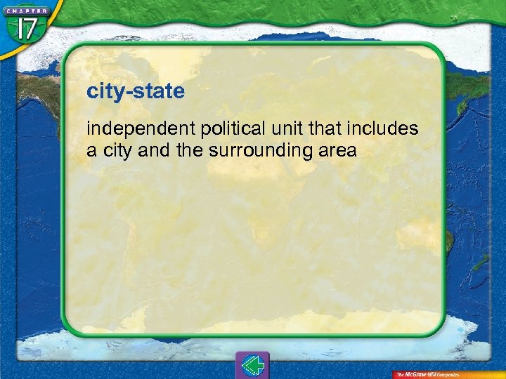 city-state independent political unit that includes a city and the surrounding area