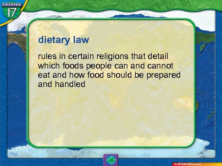 dietary law rules in certain religions that detail which foods people can and cannot