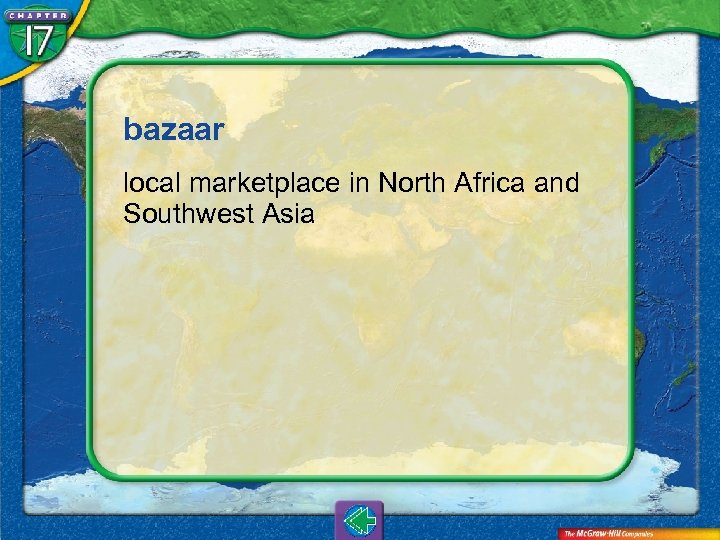 bazaar local marketplace in North Africa and Southwest Asia