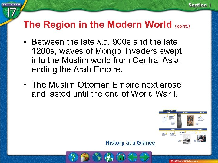 The Region in the Modern World (cont. ) • Between the late A. D.