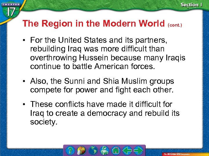 The Region in the Modern World (cont. ) • For the United States and