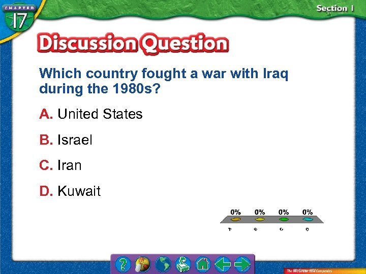 Which country fought a war with Iraq during the 1980 s? A. United States