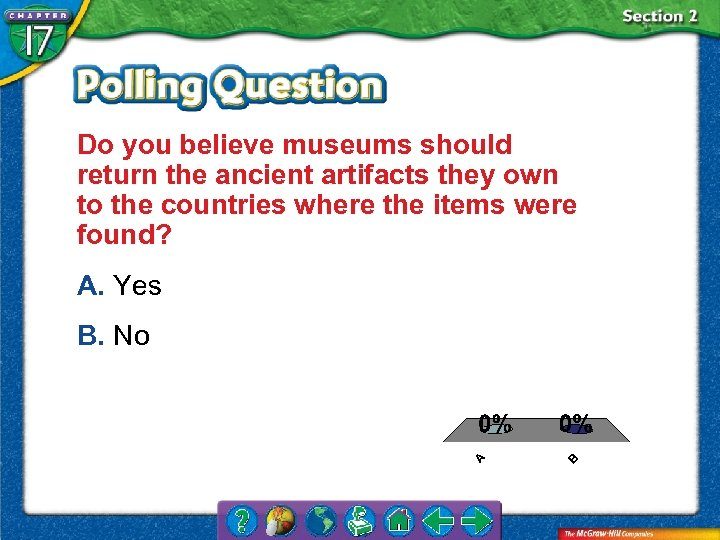 Do you believe museums should return the ancient artifacts they own to the countries