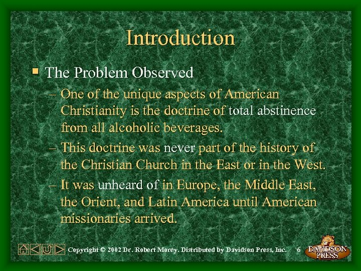 Introduction § The Problem Observed – One of the unique aspects of American Christianity