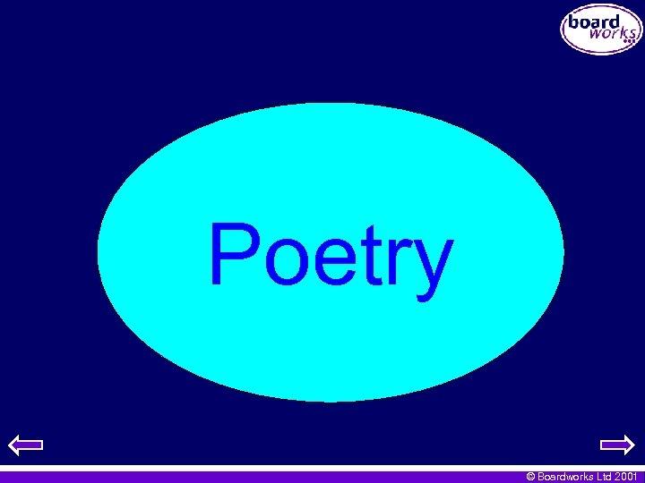 Poetry © Boardworks Ltd 2001