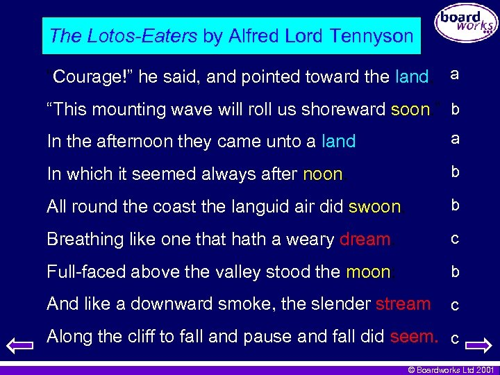 """The Lotos-Eaters by Alfred Lord Tennyson """"Courage!"""" he said, and pointed toward the land,"""