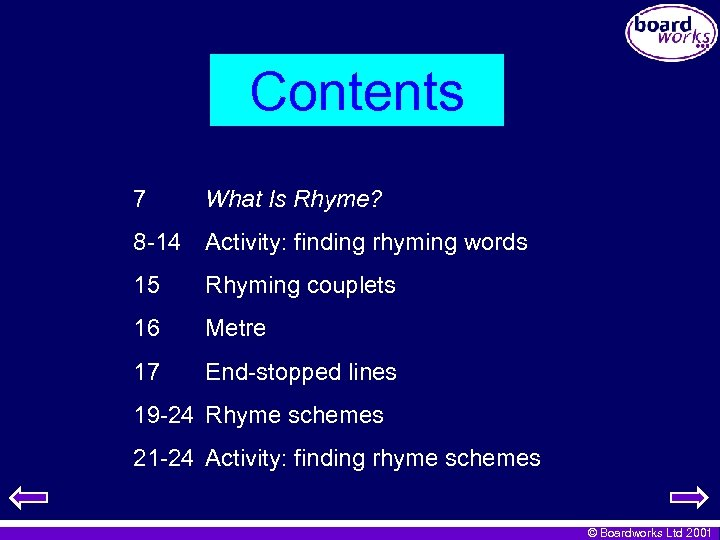 Contents 7 What Is Rhyme? 8 -14 Activity: finding rhyming words 15 Rhyming couplets