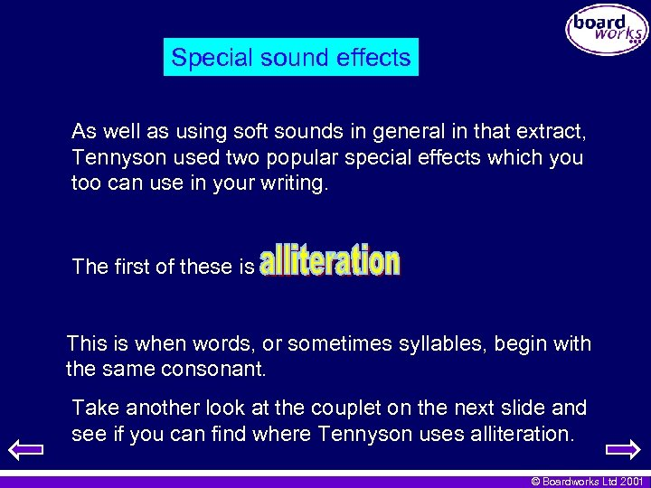 Special sound effects As well as using soft sounds in general in that extract,