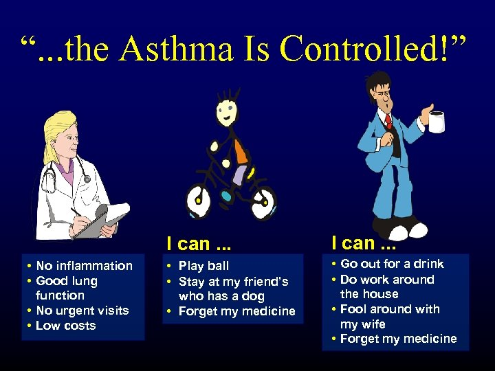 """. . . the Asthma Is Controlled!"" I can. . . • No inflammation"
