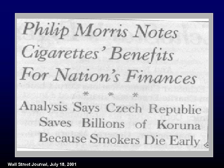 Wall Street Journal, July 18, 2001