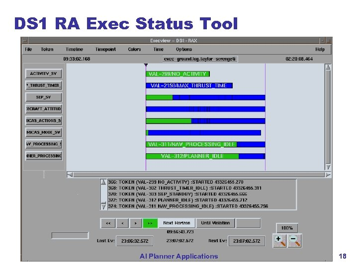 DS 1 RA Exec Status Tool AI Planner Applications 18