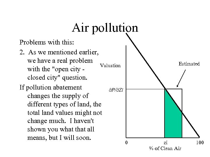 Air pollution Problems with this: 2. As we mentioned earlier, we have a real