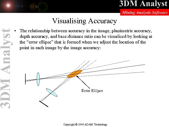 3 DM Analyst Mining Analysis Software Visualising Accuracy • The relationship between accuracy in