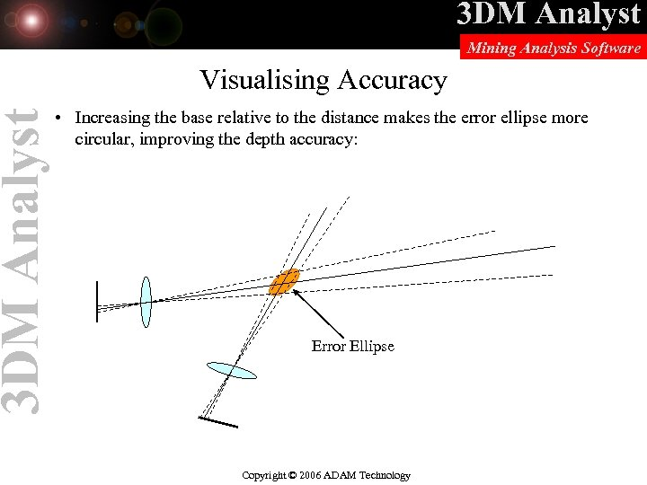3 DM Analyst Mining Analysis Software Visualising Accuracy • Increasing the base relative to