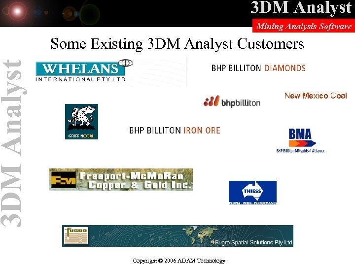 3 DM Analyst Mining Analysis Software 3 DM Analyst Some Existing 3 DM Analyst