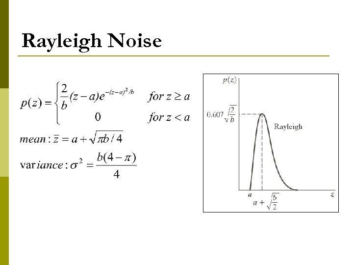 Rayleigh Noise
