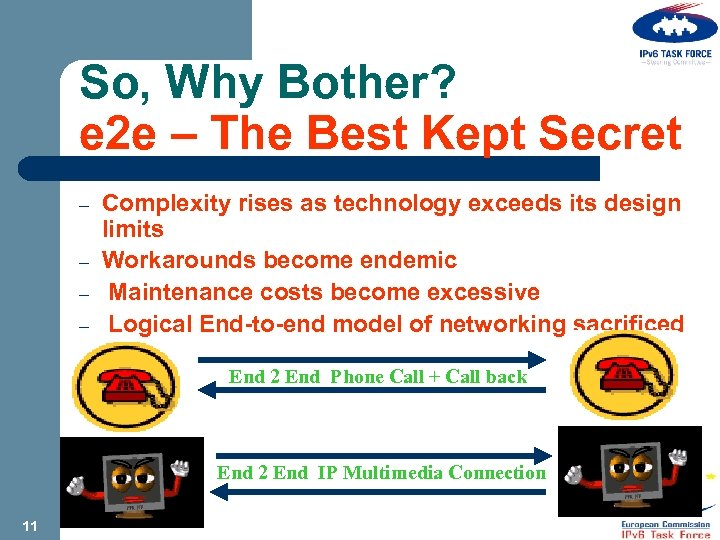 So, Why Bother? e 2 e – The Best Kept Secret – – Complexity