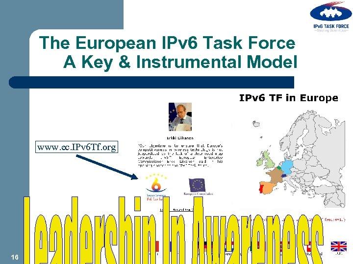 The European IPv 6 Task Force A Key & Instrumental Model www. ec. IPv