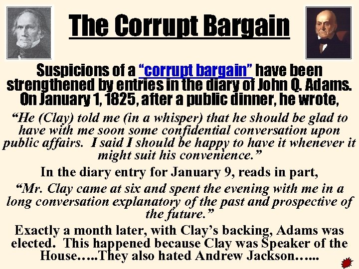 "The Corrupt Bargain corrupt 1 Suspicions of a ""corrupt bargain"" have been strengthened by"