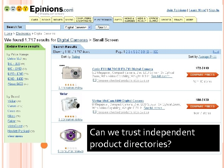 71 Can we trust independent product directories?