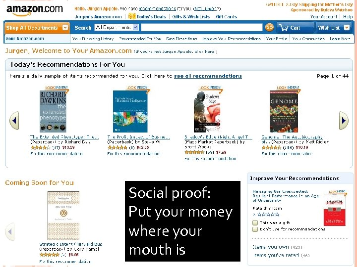 75 Social proof: Put your money where your mouth is