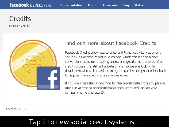 95 Tap into new social credit systems…
