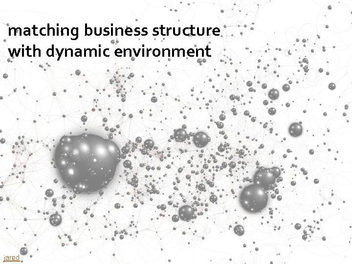 matching business structure with dynamic environment 96 jared