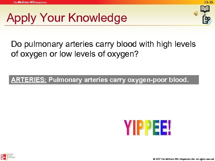 23 -35 Apply Your Knowledge Do pulmonary arteries carry blood with high levels of