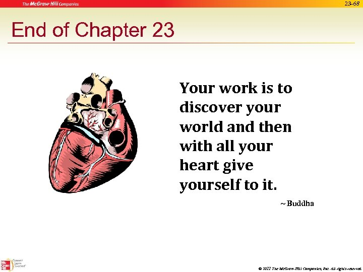 23 -68 End of Chapter 23 Your work is to discover your world and
