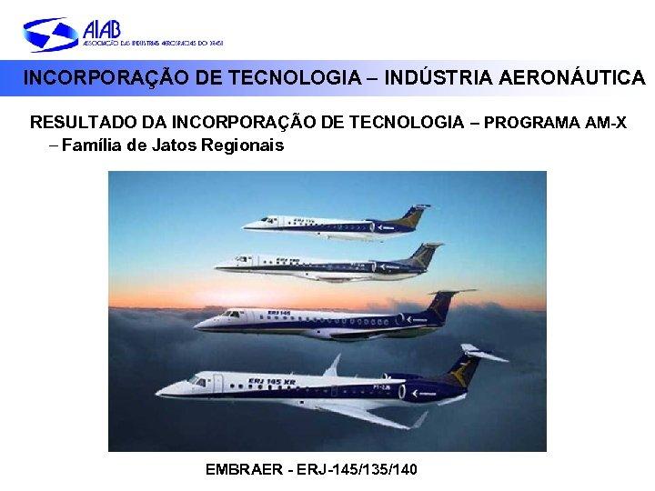 INCORPORAÇÃO DE TECNOLOGIA – INDÚSTRIA AERONÁUTICA RESULTADO DA INCORPORAÇÃO DE TECNOLOGIA – PROGRAMA AM-X