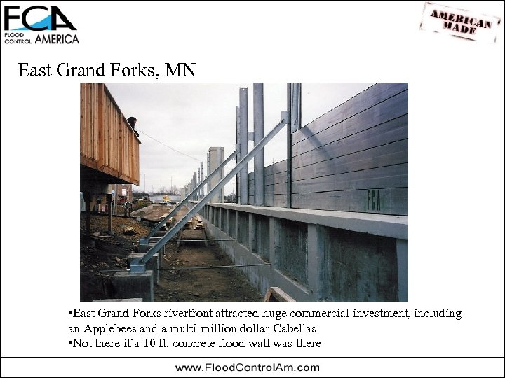 East Grand Forks, MN • East Grand Forks riverfront attracted huge commercial investment, including