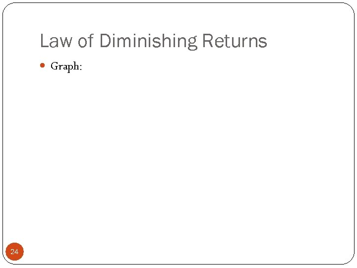 an introduction to the law of diminishing returns in economics Friday, 23 march 2012 law of diminishing marginal returns contents chapter 1: introduction economics issues 11 definition of economics 12 positive and normative economy statement 13 basic economy concepts 14 basic economy problems (fundamental) 15.