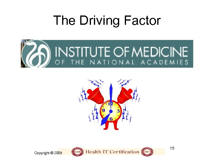 The Driving Factor 15 Copyright © 2005