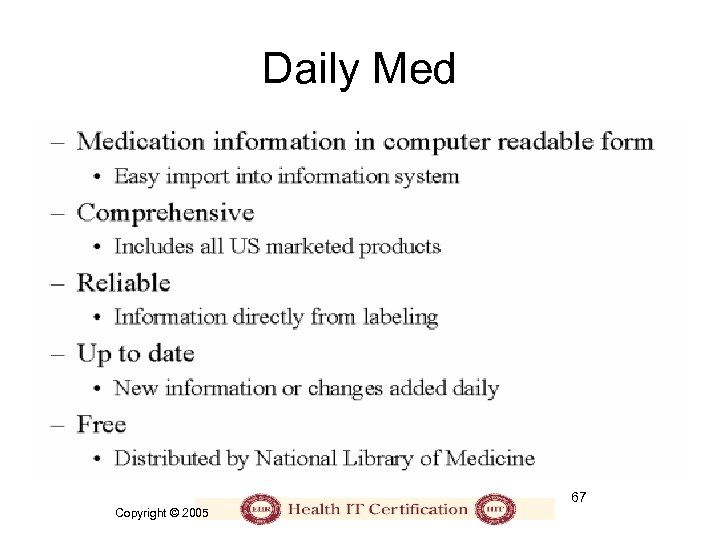 Daily Med 67 Copyright © 2005