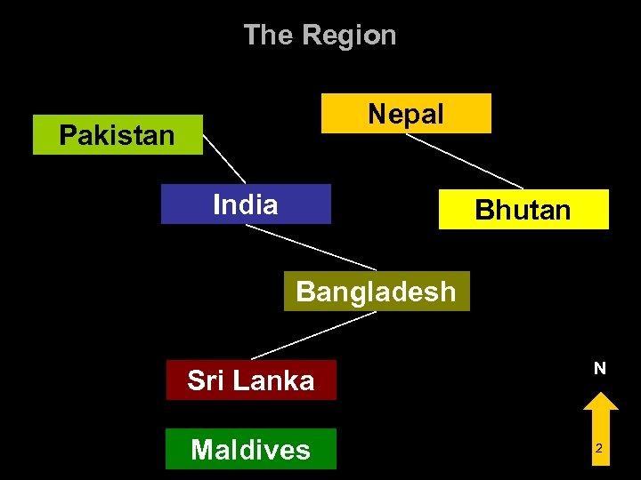 The Region Nepal Pakistan India Bhutan Bangladesh Sri Lanka Maldives N 2