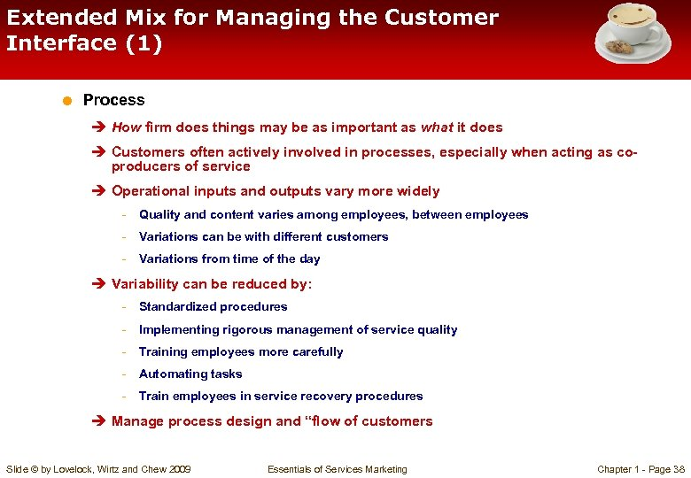 Extended Mix for Managing the Customer Interface (1) = Process è How firm does