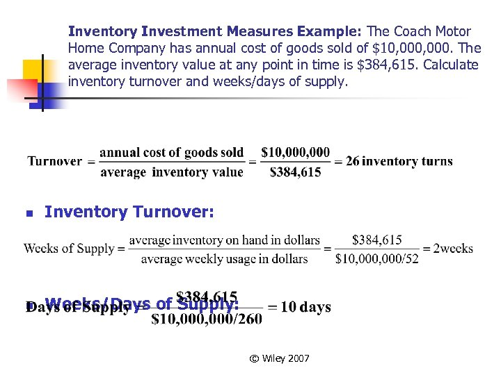 Chapter 12 Independent Demand Inventory Management Operations