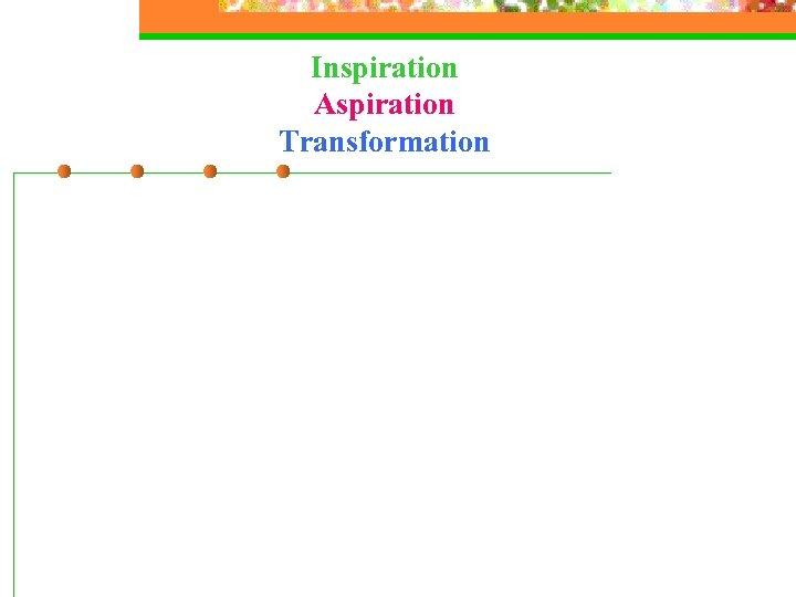 Inspiration Aspiration Transformation